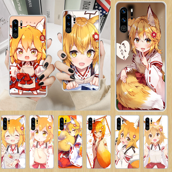 The Helpful Fox Senko anime Phone Case hull For HUAWEI p 8 9 10 20 30 40 smart Lite 2017 19 Pro Z transparent Etui luxury bumper image