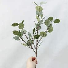 Cover the juice fake leaves artificial Money leaf Retro Eucalyptus plant bouquet Floral accessories decoration flower