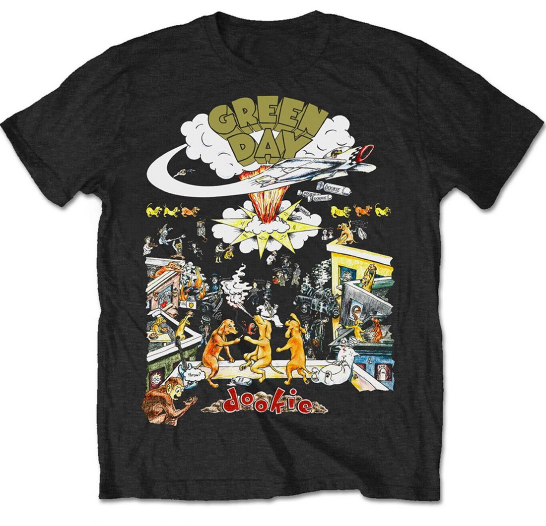 Green Day Special Edition Men's Tops Tee T Shirt 1994 Tour Dookie Official Band Merch Homme Plus Size T Shirt by Ali Express.Com