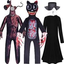 Scp Foundation Cartoon Cat Halloween Cosplay Costumes Siren Head Horror Funny Steampunk Plague Doctor Bird Clothing for Kids Boy