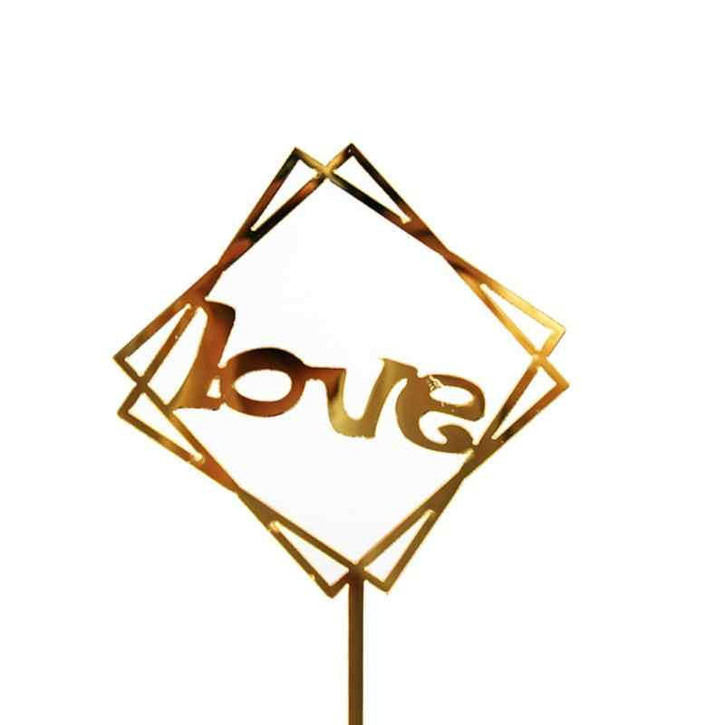 Carte de décoration en acrylique pour gâteau | Décoration de gâteau en forme de carte de joyeux anniversaire, décoration de fête d'estampage à chaud, décoration de support de gâteau de mariage