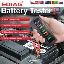 EDIAG BM310 Car Battery Tester &brake fluid tester  12V 24V Digital Test 6 /7LED Lights Display OBDII car High Quality obd 2
