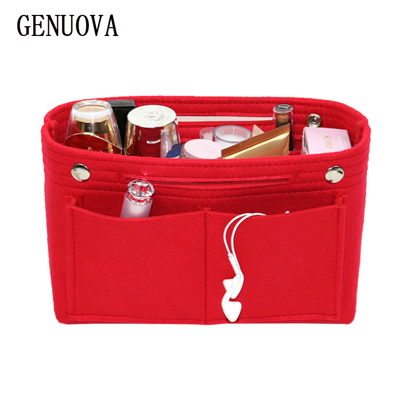 Multifunction Handbag Felt Bag Within A Bag Cosmetic Organizer Insert Bags Woman Beautician Toiletry Necessary Makeup Pouch