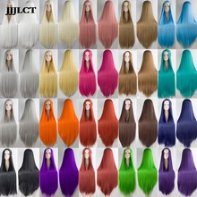 Role playing wig party wig 20 color new 100 cm long wig high temperature fiber synthetic wig clothing(China)