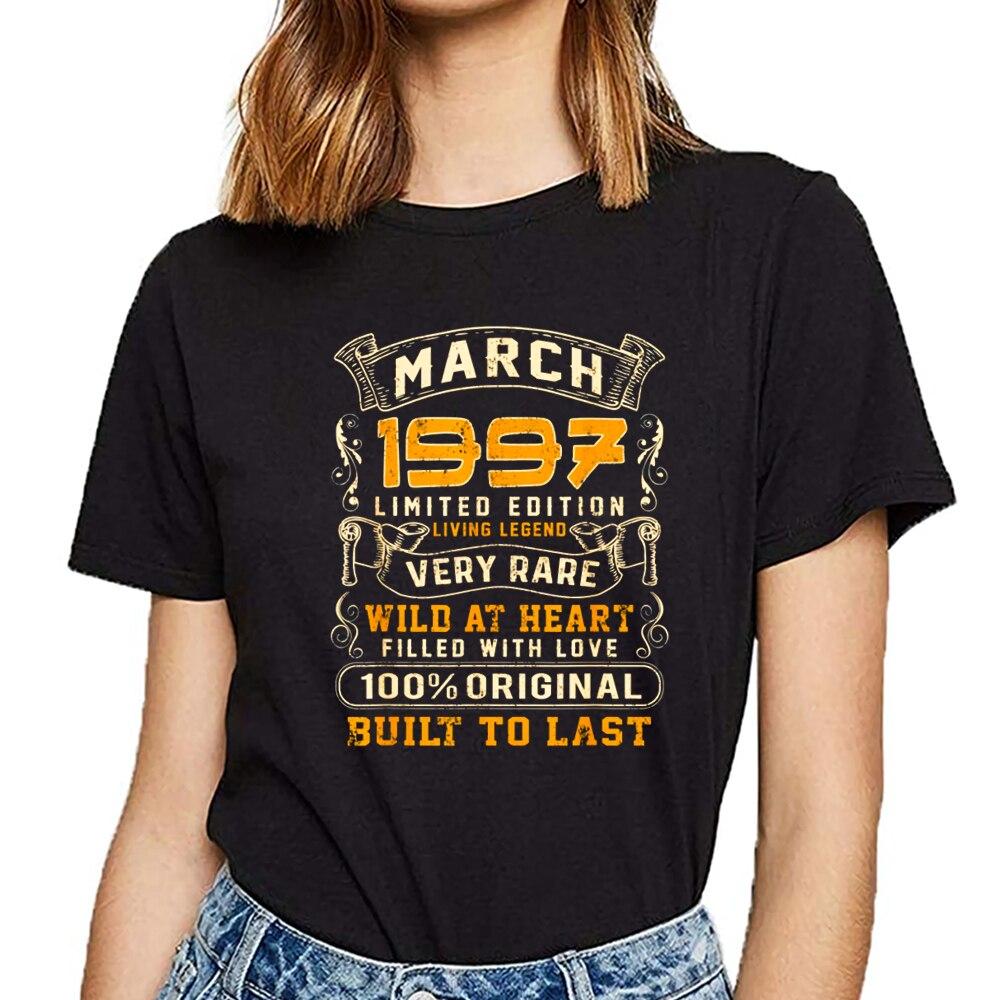 탑 t 셔츠 여성 빈티지 22 세 생일 1997 년 3 월 22 세 재미있는 하라주쿠 짧은 여성 tshirt
