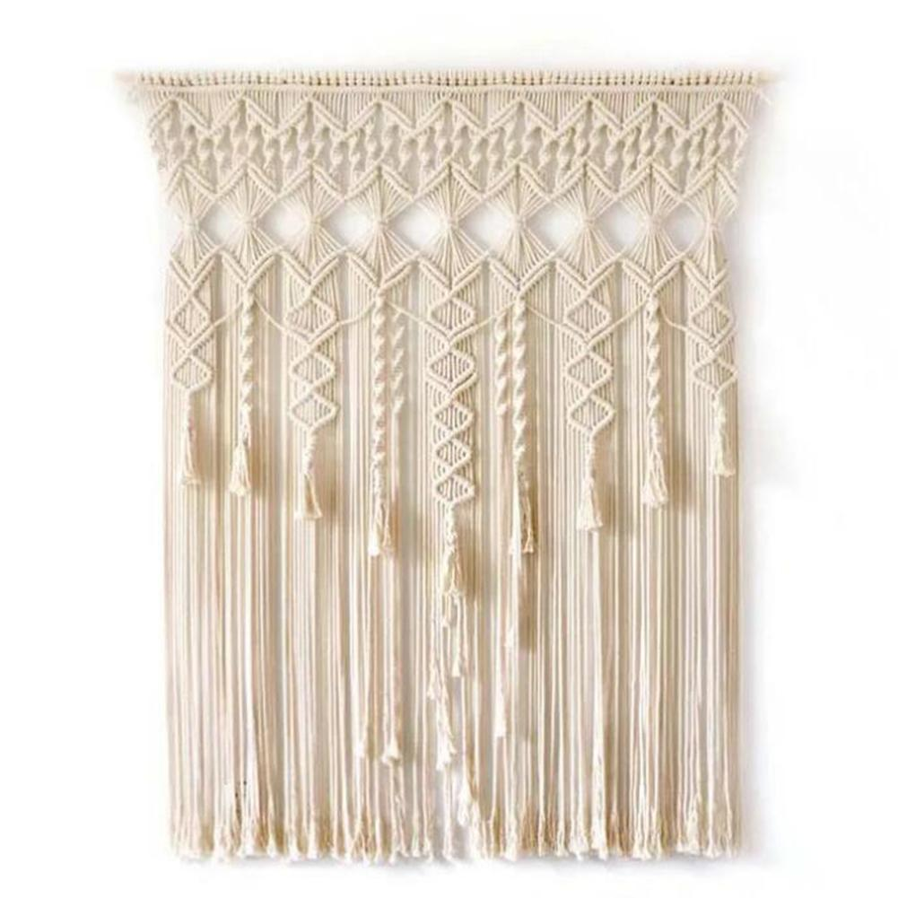 Macrame Curtain Bohemian Woven Wall Hanging Handwoven Tapestry Doorway Window Curtains Macrame Wedding Room Decoration