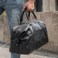 Men's Handbag Travel Bag Genuine Leather Men Duffle Bag Luggage Travel Bag Full Grain Leather Duffel Bag Weekender Bag