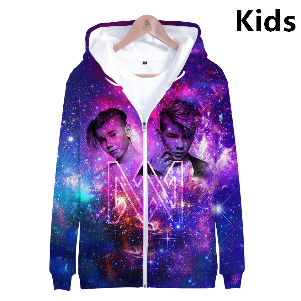 3 To 14 Years Kids Hoodies Marcus & Martinus 3D Printed Hoodie Sweatshirt Boys Girls Casual Hip Hop Jacket Coat Children Clothes