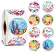 Материал пакета форма печать наклейки этикетки канцелярские животных 1 дюйм персонализированные украшения для скрап-круглый спасибо 500шт