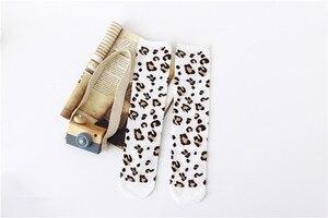 Image 5 - Boys Girls Socks Leopard Cotton Soft Kids Knee High Socks Autumn Winter Leg Warmers Children Long Sock