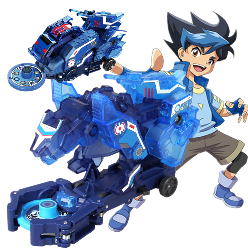 Out Of Print Screechers Wild Burst Speed Deformation Car Lion Action Figures Capture Wafer Flips Transformation Kids Toys  Gift