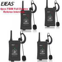 4 Uds 2019 último árbitro de fútbol marca EJEAS intercomunicador auriculares FBIM 1200M completo y doble Bluetooth motocicleta interfono inalámbrico