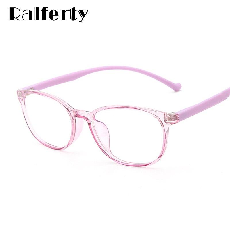 Ralferty Kids Glasses Frame Child Flexible Anti Blue Light Glasses Computer Gaming Radiation Protection Eyeglass Myopia K28057