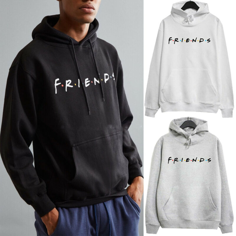 Fashion Simple Men Women Hoodies Sweatshirts Jacket Coats Harajuku Coat Windbreaker Hooded Streetwear FRIENDS Print Tops Outwear
