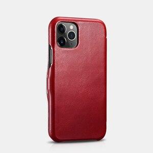Image 3 - Retro Luxury Genuine Leather Metal Magnetic Flip Case for iPhone 11 Pro Max Xs Max XR X 8 7 Plus SE Original Mobile Phone Cover