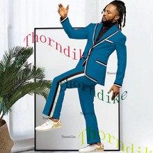 Suit Blazer Business-Suits Wedding-Tuxedo Casual Lapel Thorndike for Pants/t1317 Pants/t1317