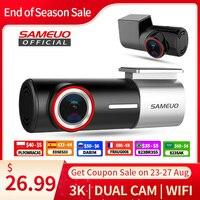 SAMEUO U700 Dash Cam Vorne und Hinten Kamera Recorder QHD 1944P Auto DVR mit 2 cam dashcam WiFi Video recorder 24H Parkplatz Monitor