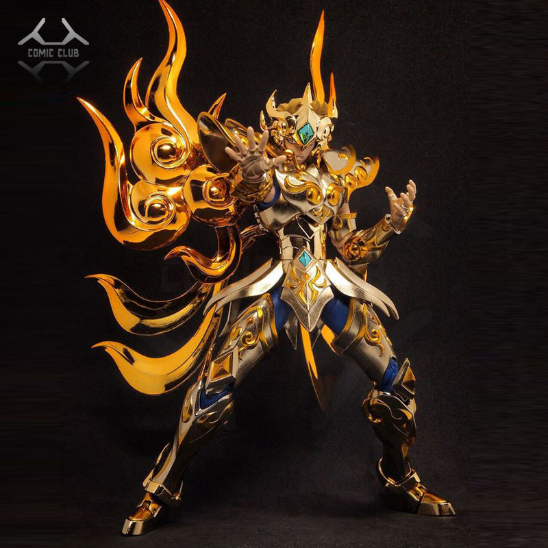 COMIC CLUB IN-STOCK Chuanqi Chuanshen CS Soul Of God Sog EX Leo Aioria Model Saint Seiya Metal Armor Cloth Myth Action Figure