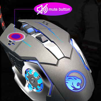 Wired Gaming Mouse Backlit Ergonomic Mouse Programmable with LED Adjustable 3200 DPI for Windows PC Gamers chyi wired left hand vertical mouse ergonomic led backlit 1600dpi adjustable usb power wrist protect mice with mousepad kit pc