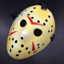 Vendredi le 13th Halloween Myers Jason VS. Freddy Costume Prop Horreur Masque De Hockey(China)