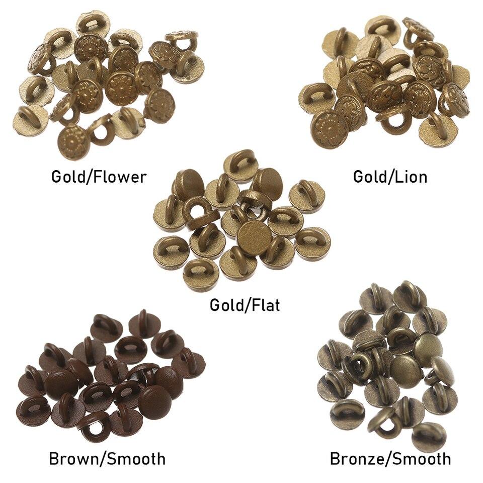 bronze color 20 pcs Mini metal buttons 4 mm