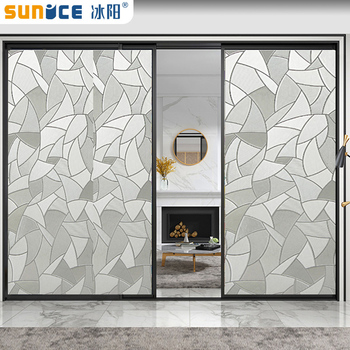 SUNICE Window Films Scrubs Frosted Privacy Frost Home Bedroom Bathroom Glass Self-adhesive Static Cling Window Film Sticker