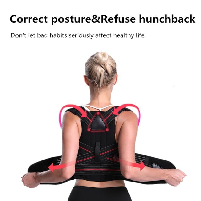 Adjustable Clavicle Posture Corrector Men Women Back Brace Shoulder Lumbar Support Belt Corset Posture Correction Beauty and Health Personal Care Appliance
