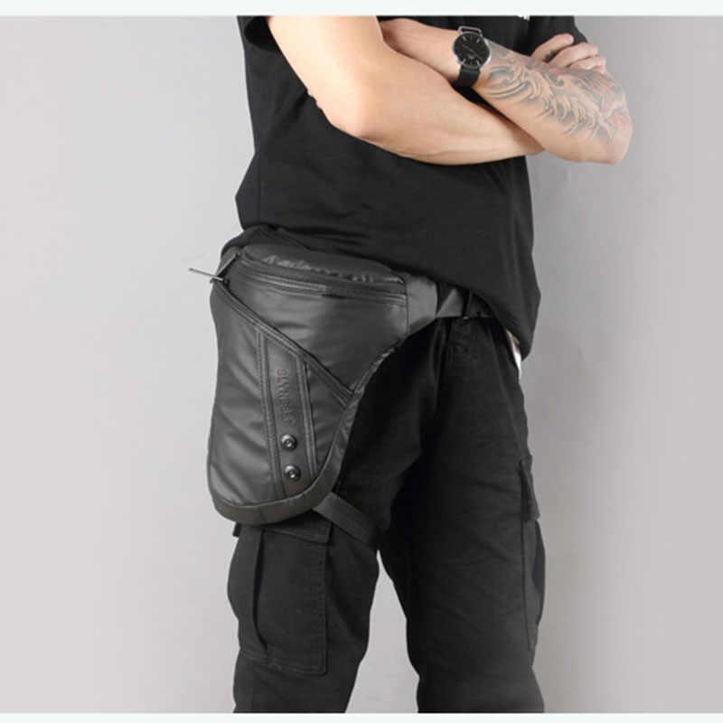 Motorcycle Drop Leg Pouch Men Multifunctional Thigh Oxford Belt Waist Cross Body