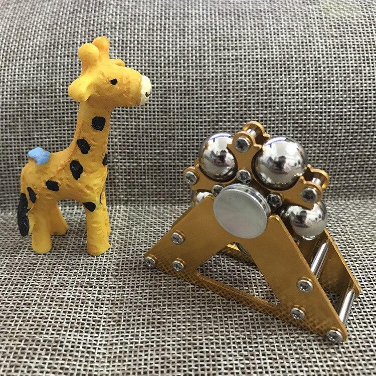 Miniko Metal Five Bead Ferris Wheel Fingertip Gyroscope Stainless Steel Ball Bracket Finger Gyro Fidget Spinner With Box