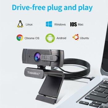 Original TISHRIC H701 Full HD Webcam 1080P Auto Focus Anti Peek Web Camera With Microphone USB Camera for PC Camera Web Cam 1