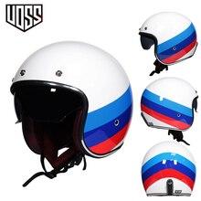 Retro motorrad helm 3/4 open halb helm unisex capacete vintage ABS material VOSS 060