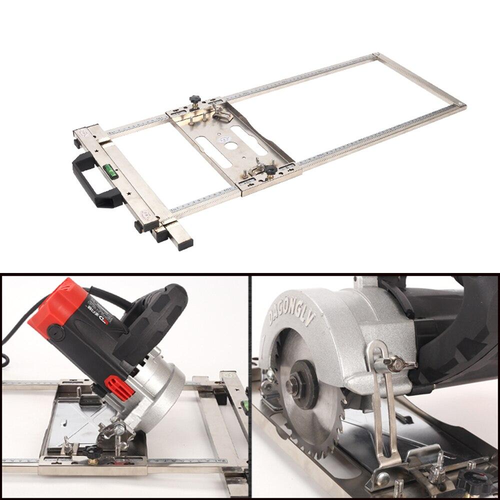 Eletricidade serra circular aparador máquina guia de borda posicionamento placa de corte ferramenta carpintaria roteador círculo moagem sulco