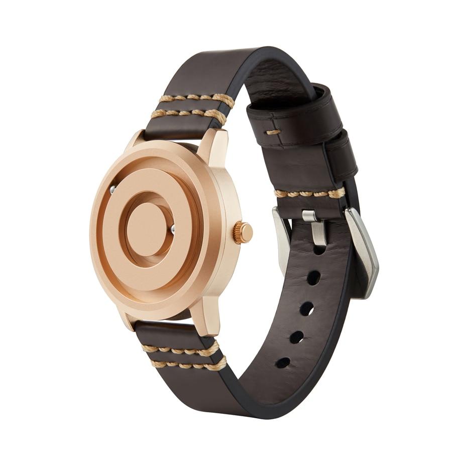 EUTOUR New Innovative Blue Gold Magnetic Metal Multifunctional Watch Men's Fashion Sports Quartz Watch Simple Men's Watch 6