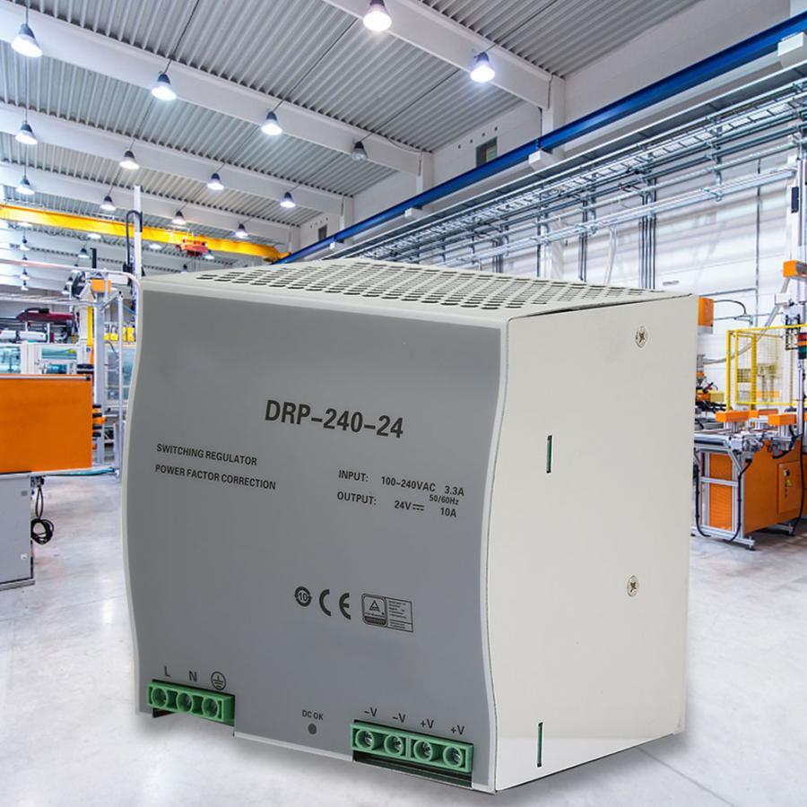 Alimentation à découpage à sortie unique Din Rail 240W 24V AC/DC réglable avec protection contre les surintensités de surcharge