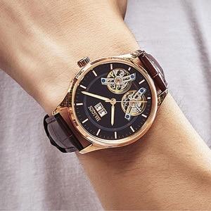 Image 2 - HAIQIN męskie zegarki męskie zegarki top marka luksusowy automatyczny mechaniczny zegarek sportowy mężczyźni wirstwatch Tourbillon Reloj hombres 2020