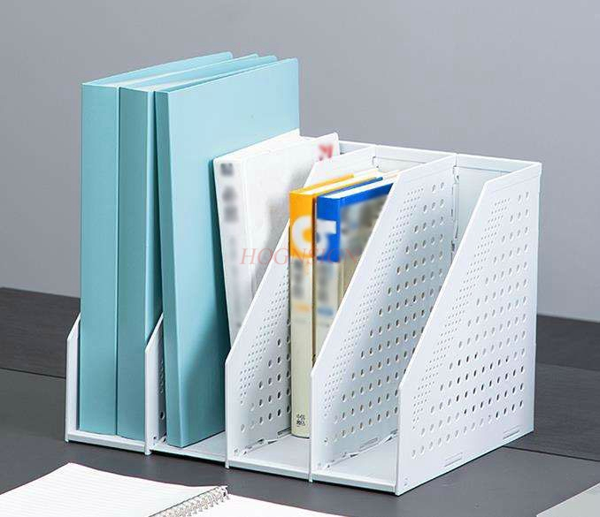 Folding File Box Thickening Multi-layer File Folder Storage Box Student Bookshelf Simple Office File Information Rack