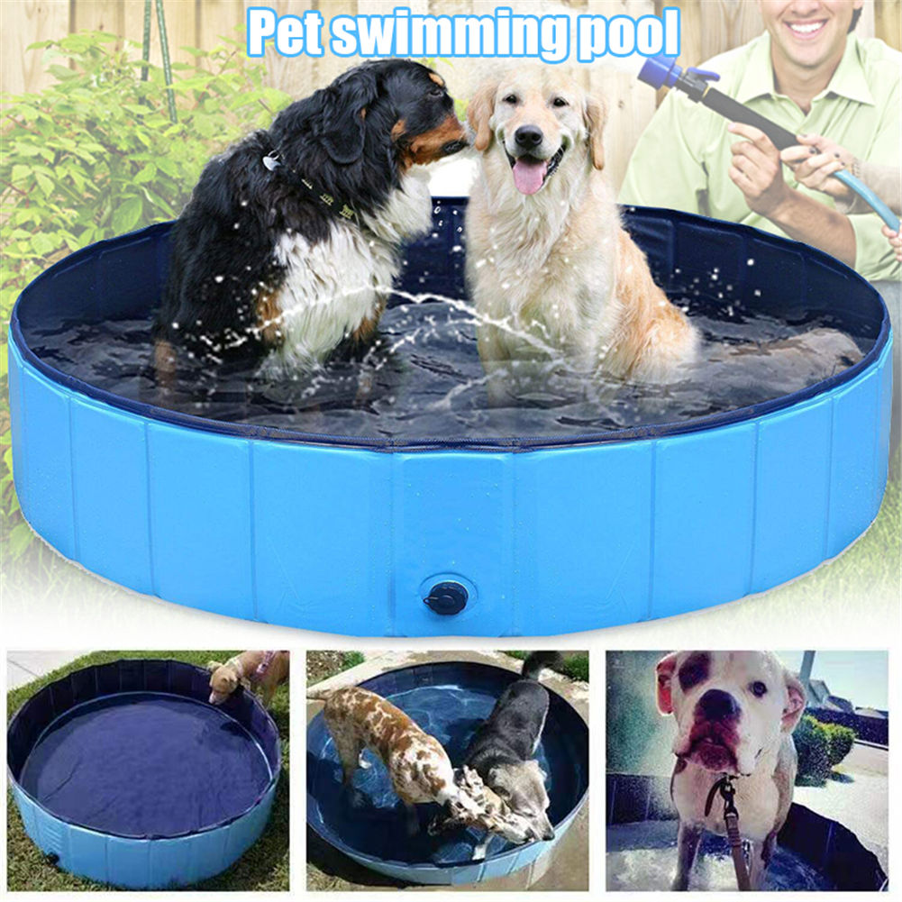 Dog Pool Collapsible Pet Bath Pool Folding for Puppy Cat Kids ...