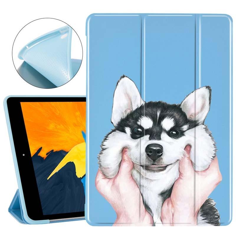 Custodia per cani carina creativa per Ipad Mini 2 3 4 Cover pieghevole funzione supporto per Ipad Air 1 2 3 7a generazione 11 Pro 2018 2020