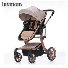 Luxmom детская коляска 2 в 1 Высокое пейзаже Multifunctionc может сидеть или лежать складной четыре сезона Россия