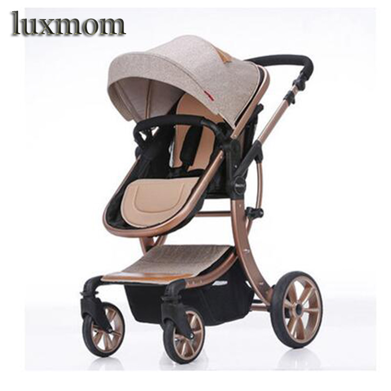 Luxmom Baby Stroller 2 In 1 High Landscape Multifunctionc Can Sit Or Lie Folding Four Seasons Russia Free Shipping