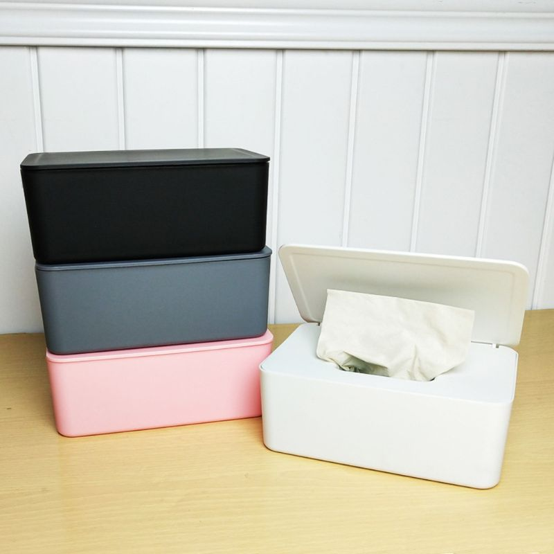 Wet Wipes Dispenser Holder With Lid For Home Office Store Dustproof Tissue Storage Box