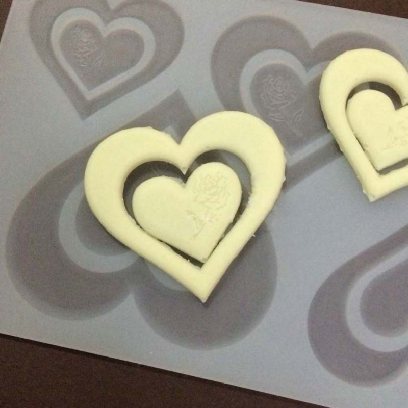4 Even Love Mold Silicone Cake Mold Baking Love Plug Fondant Cake Chocolate Decoration Supplies Kitchen Cute Baking Tools