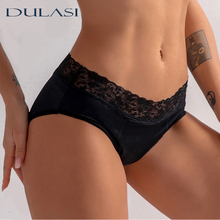 Woman Menstrual Underwear Sexy Lace Physiological Pants Four Layers Breathable Leakproof Period Panties Absorbent Underpants