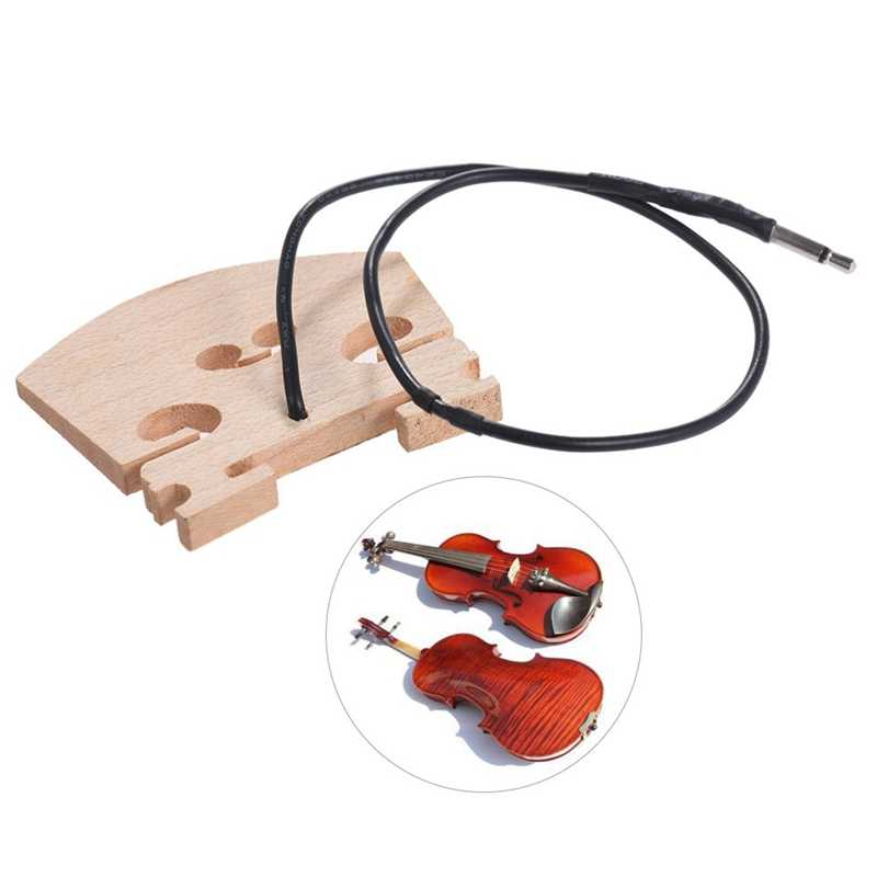 Violin Bridge With Internally Mounted Piezo Pickup For 4/4 Full Size Electric Violin Parts Replacement