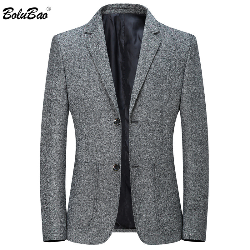 BOLUBAO Men Business Blazers Spring Autumn New Men's Slim Fit Wild Suit Coats Male Solid Color Lapel Blazers Coat Brand Clothing