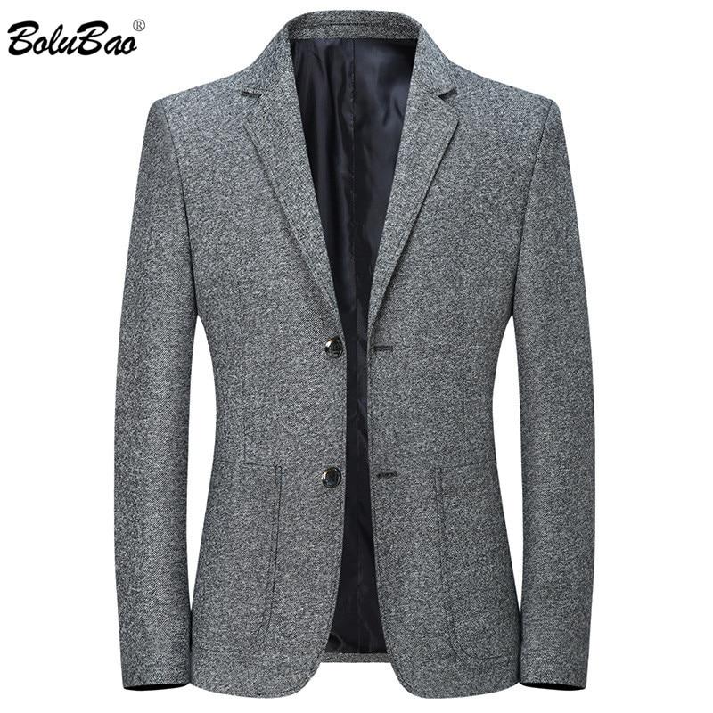 BOLUBAO Men Business Blazers Spring Autumn New Men's Slim Fit Wild Suit Coats Male Solid Color Lapel Blazers Coat Brand Clothing