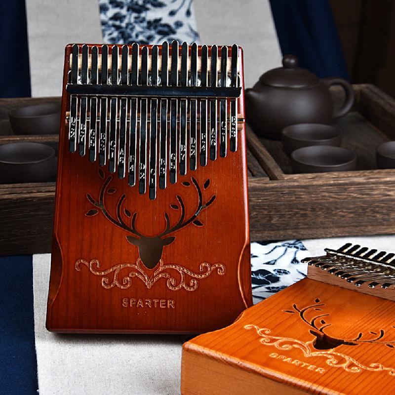 Thumb Piano Kalimba 17 Keys Thumb Piano Portable Solid Wood Finger Piano Instrument Gifts Beginners Karin Bar Kalimba Instrument