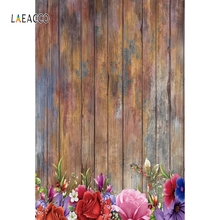 Laeacco Wooden Boards Grunge Flowers Decor Portrait Photography Backgrounds Custom Photographic Backdrops Props For Photo Studio custom vinyl cloth 3 d library photo studio backgrounds for kids student graduation portrait photography backdrops props