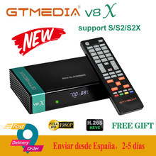 Completamente hd gtmedia v8x DVB-S2 receptor de satélite gt media v8x forma de atualização freesat v8 nova/honor suporte h.265 built-in wi-fi nenhum aplicativo