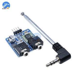 Image 1 - TEA5767 FM Stereo moduł radiowy 76 108MHZ z anteną odwrotna polaryzacja ochrony diody filtrowania czujnik Retro Radio moduł DIY